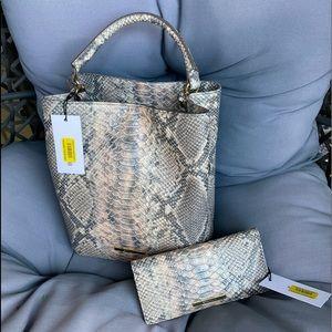 NWT Brahmin chiffon mare bag & wallet